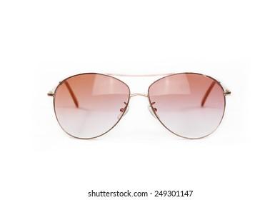 Glasses eyes glasses Isolated on white Background.
