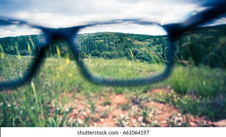 with glasses focus point