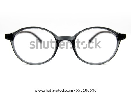 7ec27d6a2b0d Glasses Frames Isolated On White Stock Photo (Edit Now) 655188538 ...