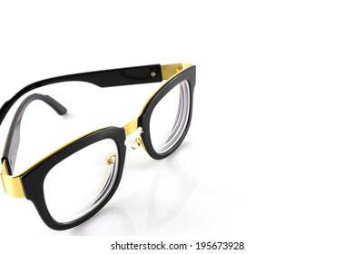 glasses isolate in white background