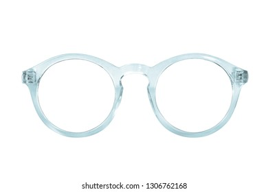 Glasses isolated on white background for applying on a portrait. Design element with clipping path