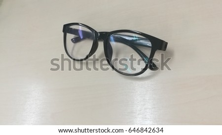 43b0a434db17 Glasses Isolated White Background Black Style Stock Photo (Edit Now ...