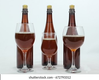 Glasses of Lambic Beer