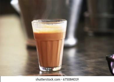 Glasses of morning chai (Tea)