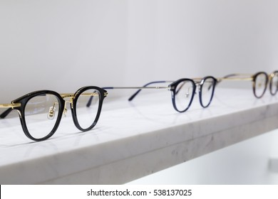 Glasses on marble
