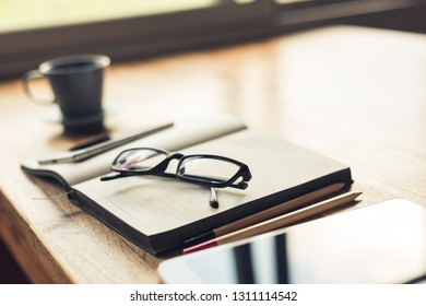 glasses on the table with copyspace, concept of relaxing after work