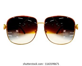 glasses on white  background. Fashion Black. black sunglasses. Spectacles. photo