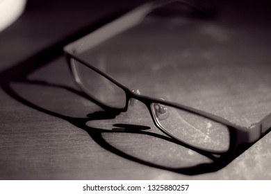 Glasses placed on the table.