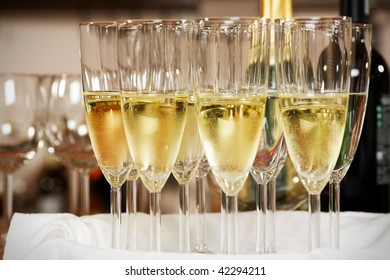 glasses with sparkling champagne