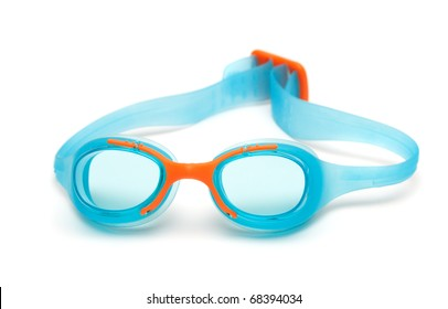 glasses for swim on white background. goggles