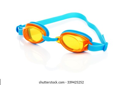 glasses for swimming, isolated on white background