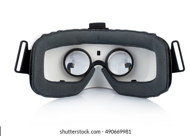 Glasses of virtual reality. Oculus Rift. On white, isolated background.