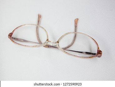 glasses and white background