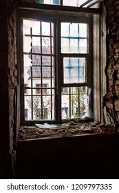 The glasses of a window have been smashed at the historical prison Patarei in Tallinn, Estonia. The prison was in use til 2002. It's future is unknown at the moment.