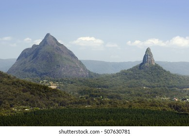 Glasshouse Mountains, Queensland , Australia on the Sunshine Coast, a popular tourist destination and nature reserve
