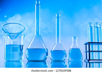 Glassware, Laboratory beakers,Science experiment