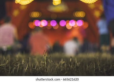 Glastonbury bokeh, Acoustic Tent, Pilton, Somerset, England, United Kingdom