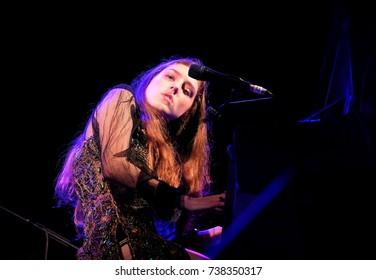 Glastonbury Festival - June 24 2017:  British pianist, singer-songwriter Birdy aka Jasmine van den Bogaerde performing at Glastonbury Festival, Pilton, Somerset June 24, 2017 in Somerset, UK