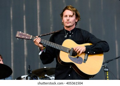 Glastonbury, Somerset, UK - June 27, 2015 - Ben Howard playing Glastonbury Festival's Other Stage