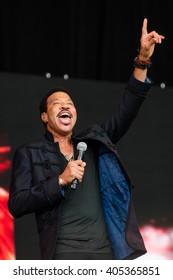 Glastonbury, Somerset, UK - June 27, 2015 - Lionel Richie playing Glastonbury Festival's Pyramid Stage