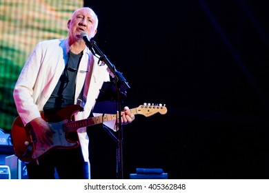 Glastonbury, Somerset, UK - June 28, 2015 - Pete Townshend of The Who Headlining Glastonbury Festival's Pyramid Stage