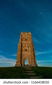 Glastonbury Tor at Night