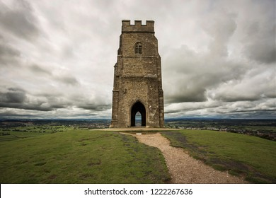 Glastonbury Tor on a cloudy day