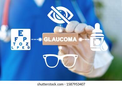 Glaucoma Blindness Eyes Vision Bad Sight Disease Medical Concept.