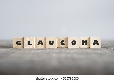 GLAUCOMA word made with building blocks