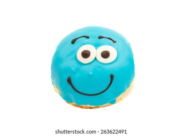glazed donuts on white background