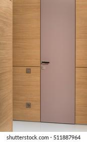 glazed door to the interior