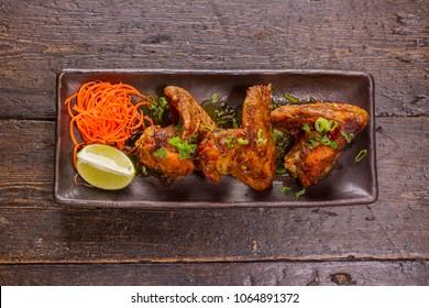 Glazed honey Chicken wings top view