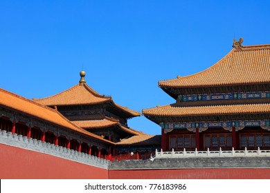 glazed tile roof of the Imperial Palace, Beijing, China