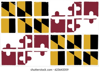 Glazed tiles maryland  flag