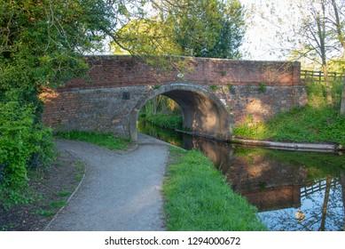 Gledrid bridge No 19W over the Llangollen Canal near Weston Rhyn in Shropshire, UK
