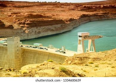 Glen Canyon Dam Bridge, Arizona.