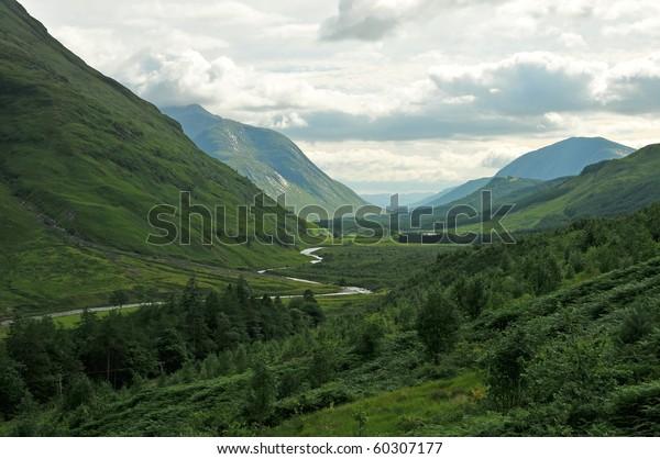 Glen Etive in the Scottish Highland