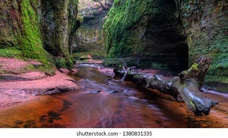 Glen Finnich, Devil's Pulpit. Famous gorge near Glasgow