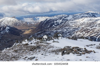 The glen is part of Snow Roads Scenic Route a 90 mile journey from Blairgowrie to Grantown-on-Spey traversing the highest public road in Britain viewed from the summit of Cairnwell