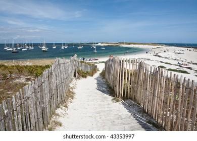 Glenan islands in Brittany, France