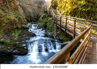 Glenariff Country Park. Glenariff is one of the Nine Glens of Antrim and known as Queen of the Glens