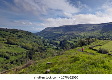Glenariff is a valley of County Antrim, Northern Ireland.   This glacially carved glen has a mouth on the North Channel of the Irish Sea at the town of Waterfoot.