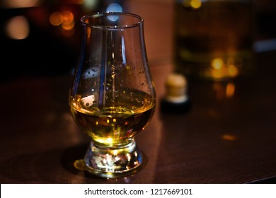 glencairn whiskey glass with single malt whiskey with space for text