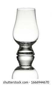 Glencairn whisky glass in back lit