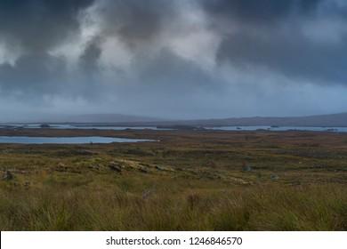 Glencoe Highlands Mountains Misty Rainy Day Scotland