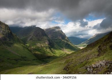 Glencoe in Scottish Highlands