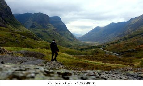 Glencoe valley mountain viewpoint, Scotland