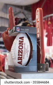 GLENDALE, AZ - December 19, 2015: team shop of American football team Arizona Cardinals.