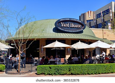 GLENDALE, AZ, USA - FEB 25, 2016:  The Yard House at Westgate Entertainment District,a sports bar chain claiming to have the world's largest draft beer collection,  founded in in 1996 in California.