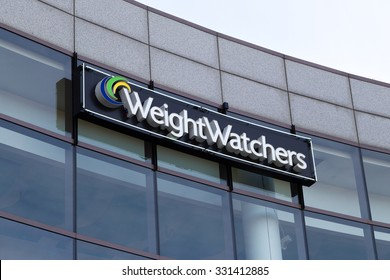 GLENDALE, CA/USA - OCTOBER 24, 2015: Weight Watchers corporate office building. Weight Watchers is a company offering weight loss products and services.